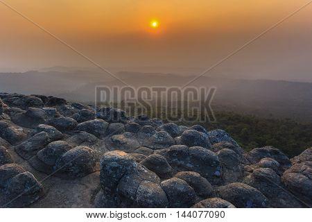 Laan Hin Pum Viewpoint at Phu Hin Rong Kla National Park Phitsanulok Thailand.