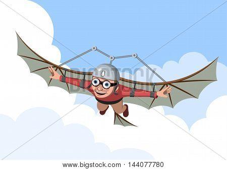 Flying - Vector illustration - EPS .