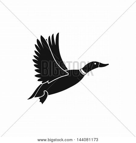 Duck icon in simple style isolated on white background. Waterfowl symbol
