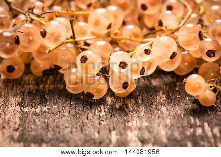 Summer Fresh Berries , Healthy Food , Wooden Background