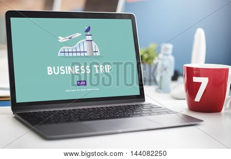 Business Trip Flights Travel Information Concept