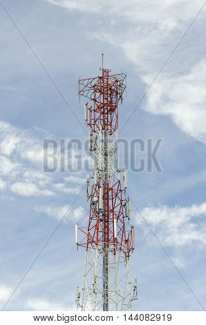 Mobile phone communication antenna tower Cell phone tower.