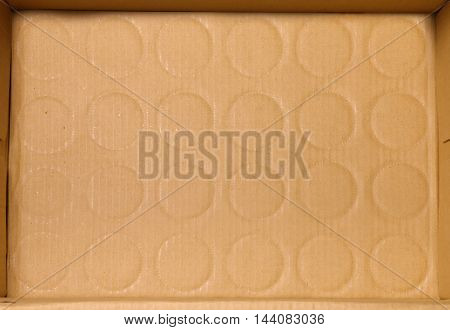 close up of old used brown carton box background