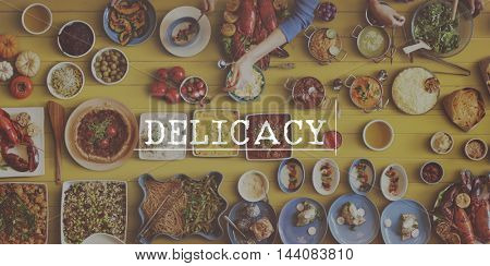 Eat Well Delicious Meal Flavour Concept