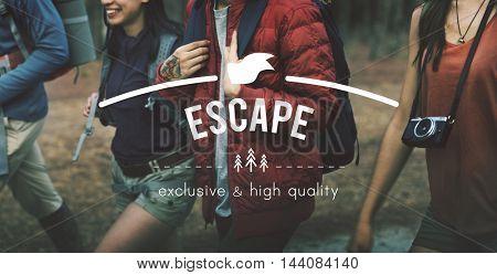Escape Adventure Traveling Exploration Journey Concept
