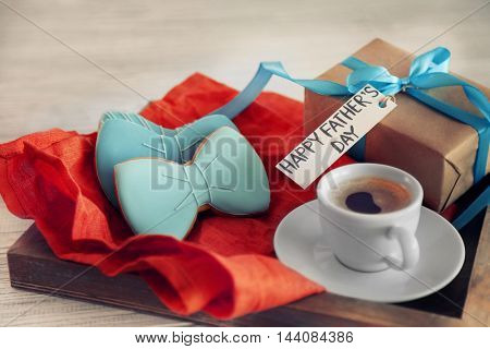 Gift box and breakfast for Fathers day