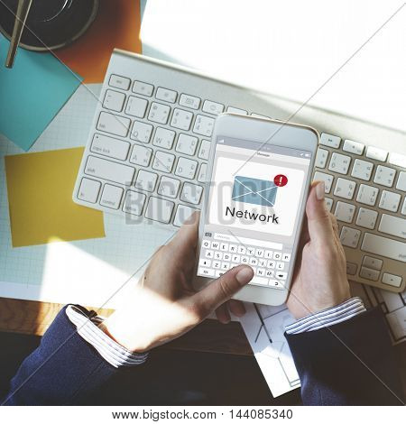 Online Message Social Network Concept