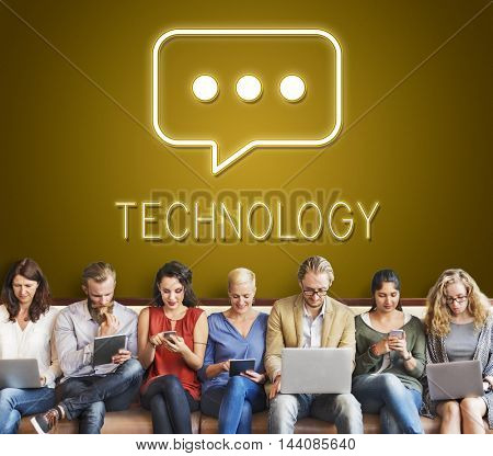 Communication Digital Device Technology Concept