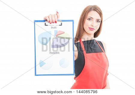 Business Owner Showing Profit Charts