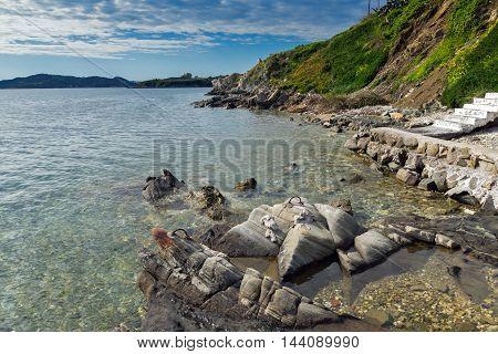 Amazing seascape of Ammouliani island, Athos, Chalkidiki, Central Macedonia, Greece
