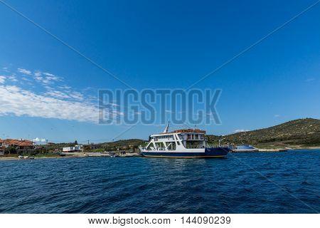 Port of Ammouliani island, Athos, Chalkidiki, Central Macedonia, Greece
