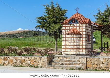 Small Church in Ammouliani island, Athos, Chalkidiki, Central Macedonia, Greece