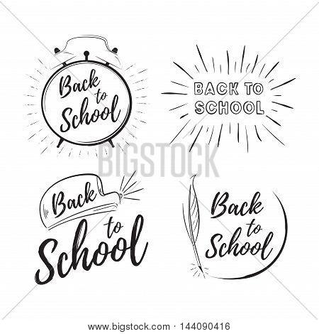 Back to school set vector. Children education background
