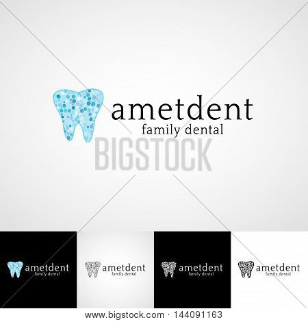 Creative dental logo template. Teethcare icon set. dentist clinic insignia, orthodontist illustration, teeth vector design, oral hygienist concept for business card graphic