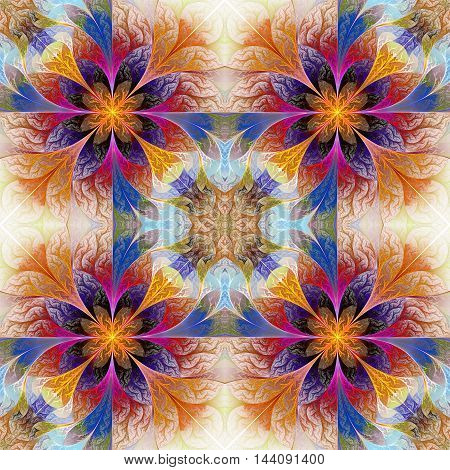 Fabulous seamless background in mosaic style.