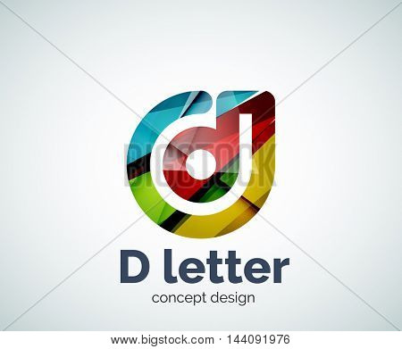 Vector D letter concept logo template, abstract business icon