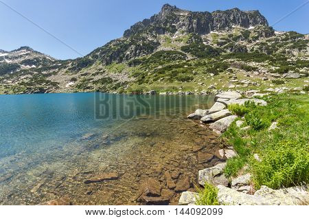 Amazing landscape of Dzhangal peak and Popovo lake, Pirin Mountain, Bulgaria