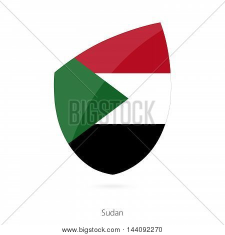 Flag Of Sudan. Sudanian Rugby Flag.