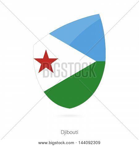 Flag Of Djibouti. Djibouti Rugby Flag.
