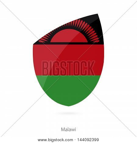 Flag Of Malawi In The Style Of Rugby Icon.