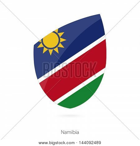 Flag Of Namibia In The Style Of Rugby Icon.