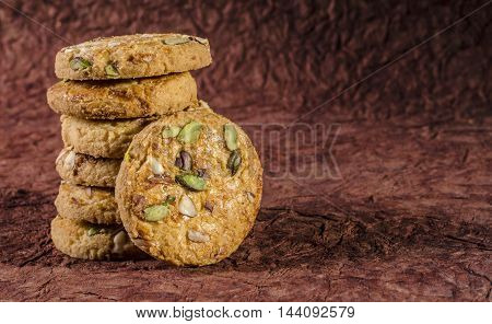 A set of cookies with some space for writing in landscape orientation