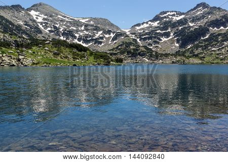 Panoramic view of Demirkapiyski chuki and Dzhano peaks, Popovo lake, Pirin Mountain, Bulgaria