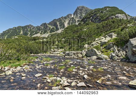 River and Sivrya peak, Pirin Mountain, Bulgaria