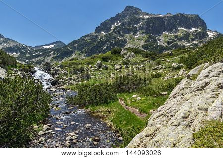 River and Dzhangal peak, Pirin Mountain, Bulgaria