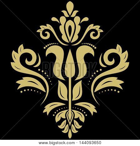 Elegant vector golden ornament in the style of barogue. Abstract traditional pattern with oriental elements