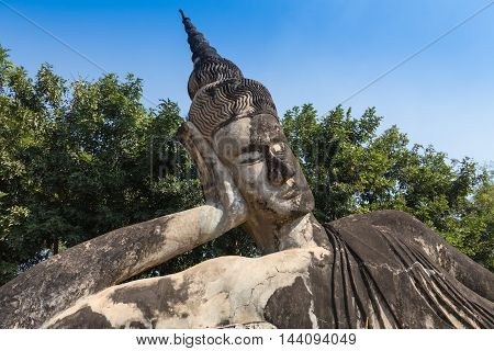 Giant Buddha - Bronze Buddha statue at the Po Lin Monastery, Cambodia