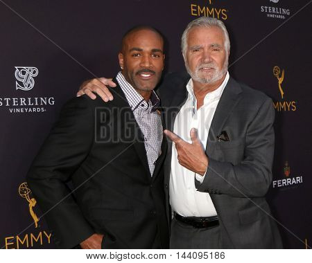 LOS ANGELES - AUG 24:  Donnell Turner, John McCook at the Daytime TV Celebrates Emmy Season  at the Television Academy - Saban Media Center on August 24, 2016 in North Hollywood, CA