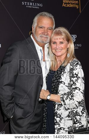 LOS ANGELES - AUG 24:  John McCook, Laurette Spang-McCook at the Daytime TV Celebrates Emmy Season  at the Television Academy - Saban Media Center on August 24, 2016 in North Hollywood, CA