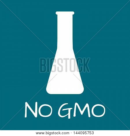 No Gmo Label. Food Intolerance Symbols. Vector Illustration.