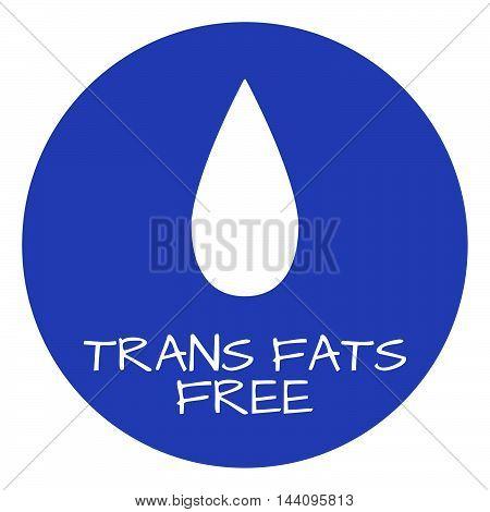 Trans Fats Free Label. Food Intolerance Symbols. Vector Illustration.