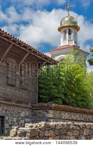 Ruins of from Ancient Sozopol and the church of St. George, Bulgaria