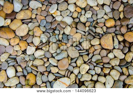 multi Color of pebble stone in background