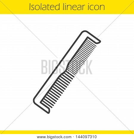 Comb linear icon. Thin line illustration. Hair brush contour symbol. Vector isolated outline drawing