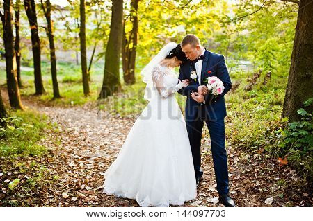 Wedding Couple At Yellow Wood