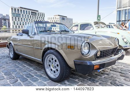COLOGNE GERMANY - AUG 7 2016: Fiat 124 Spider from ca. 1980 at an exhibition in the city of Cologne Germany