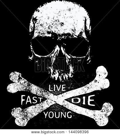 Skull T shirt Graphic Design fashion style