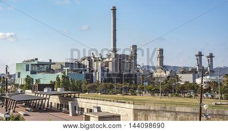 Industry plant at Sant Adria del Besos. Barcelona Spain