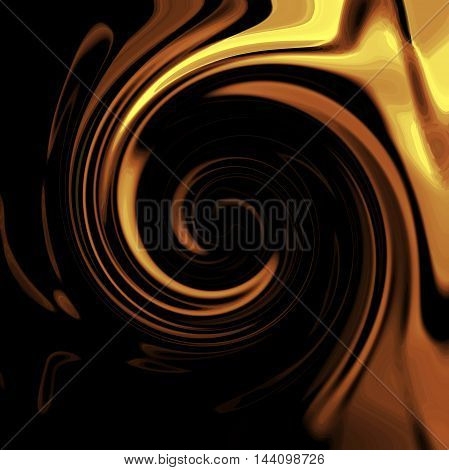 Abstract coloring background of the dark gradient with visual wave,cubism,twirl and pinch effects