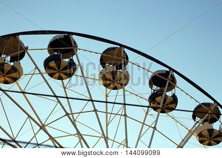 Ferris Wheel. part of ferris wheel on sky background