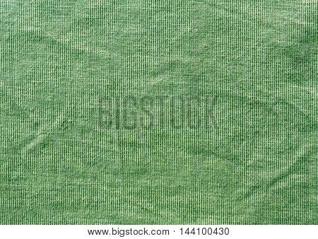 Grungy Green Textile Cloth Texture.