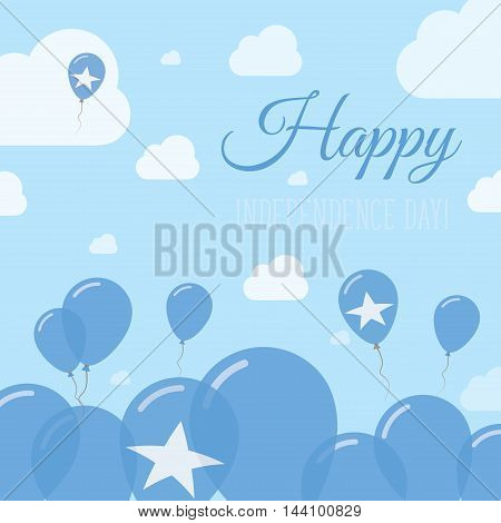 Somalia Independence Day Flat Patriotic Design. Somali Flag Balloons. Happy National Day Vector Card