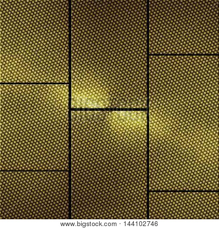 shiny gold carbon wall. gold background and texture.3d illustration.
