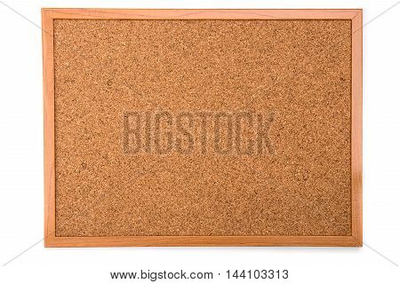 cork board isolated on white background for note