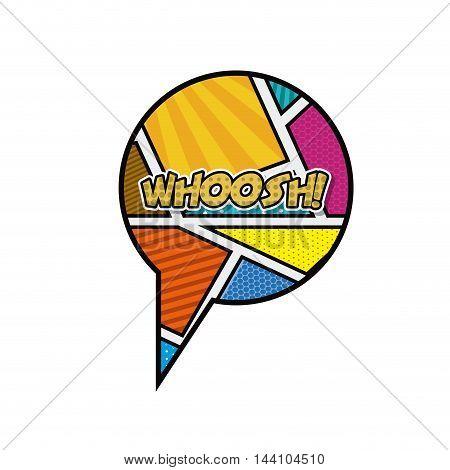 speech bubble pop art style vector illustration design
