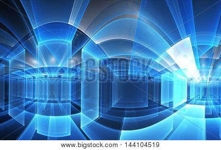 abstract blue fractal background a computer-generated 3D illustration